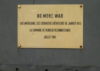 Plaque No More War